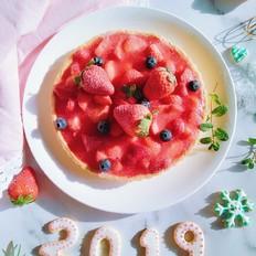 草莓果冻派