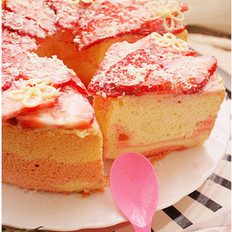 双色鲜果戚风蛋糕