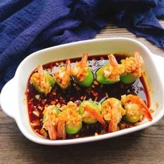 蒜蓉丝瓜酿虾