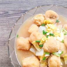 白菜烩油豆腐塞肉