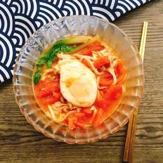 西红柿荷包蛋汤面