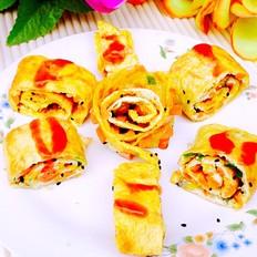 鸡蛋香肠芝麻饼