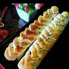 紫薯麦穗面包