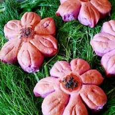 荷花紫薯面包