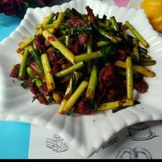 红油蒜薹炒肉片