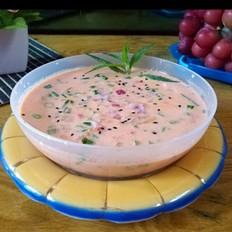 西红柿洋葱牛奶汤