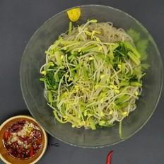 豆芽芹菜拌粉条
