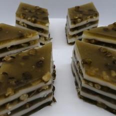 绿豆抹茶椰汁马蹄糕做法,千层马蹄糕制作方法,糕点详细教程