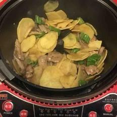 土豆青椒炒猪肝(炒菜机器人版)