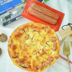 黑椒牛肉肠披萨