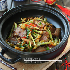 花菜炒臘肉的做法大全