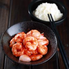 茄汁荔枝虾仁的做法