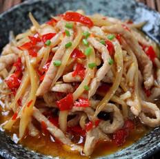 泡姜鱼香肉丝的做法