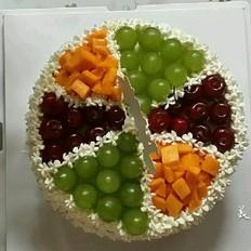 8寸《美丽的夏季》奶油水果蛋糕