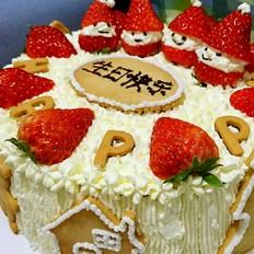 《聚会.奶油水果蛋糕》的做法