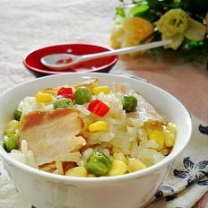 腊肉糯米锅巴饭