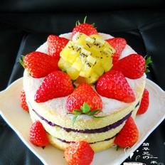 椰香紫薯裸蛋糕