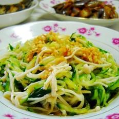 金针菇拌黄瓜丝