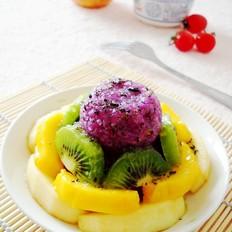 蜜汁紫薯糕