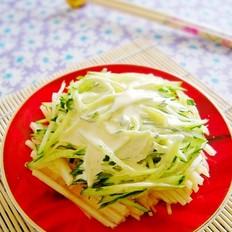 黄瓜苹果沙拉的做法