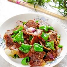 青椒回锅五香牛肉