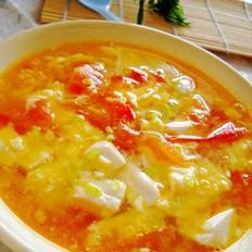 茄汁豆花鸡蛋汤