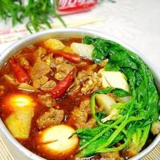 红油牛肉火锅