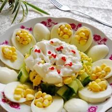 玉米黄瓜蛋沙拉