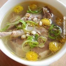 菊花薏米乳鸽汤