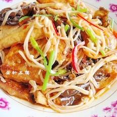 金针菇烩豆腐