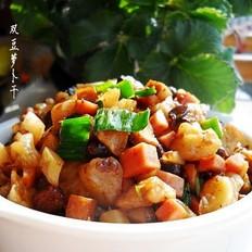 茶干豆豉萝卜丁