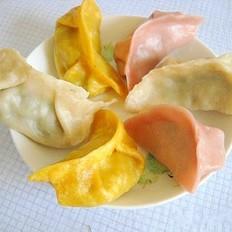 菇韭和牛肉青椒蒸饺