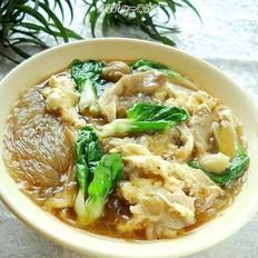 平菇鸡蛋粉丝汤