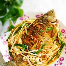 蒜香金针鲫鱼