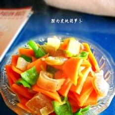 腊肉皮炖胡萝卜