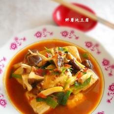 鲜蘑烧豆腐