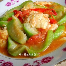 番茄絲瓜炒雞蛋