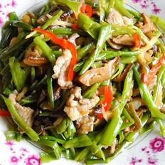 菜梗香菇肉丝