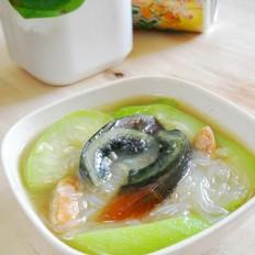 丝瓜海米皮蛋汤