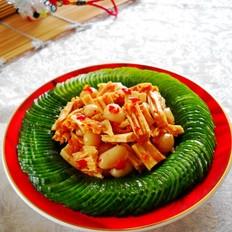 腐竹水米辣拌青瓜