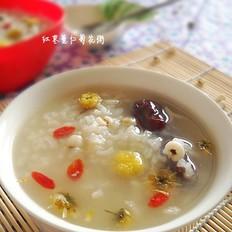 红枣薏仁菊花粥