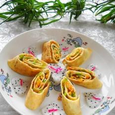 青椒红薯蛋卷
