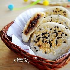红豆花生糯米饼