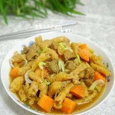 葱香豆泡烧肉