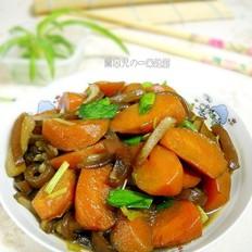 胡萝卜炖猪皮