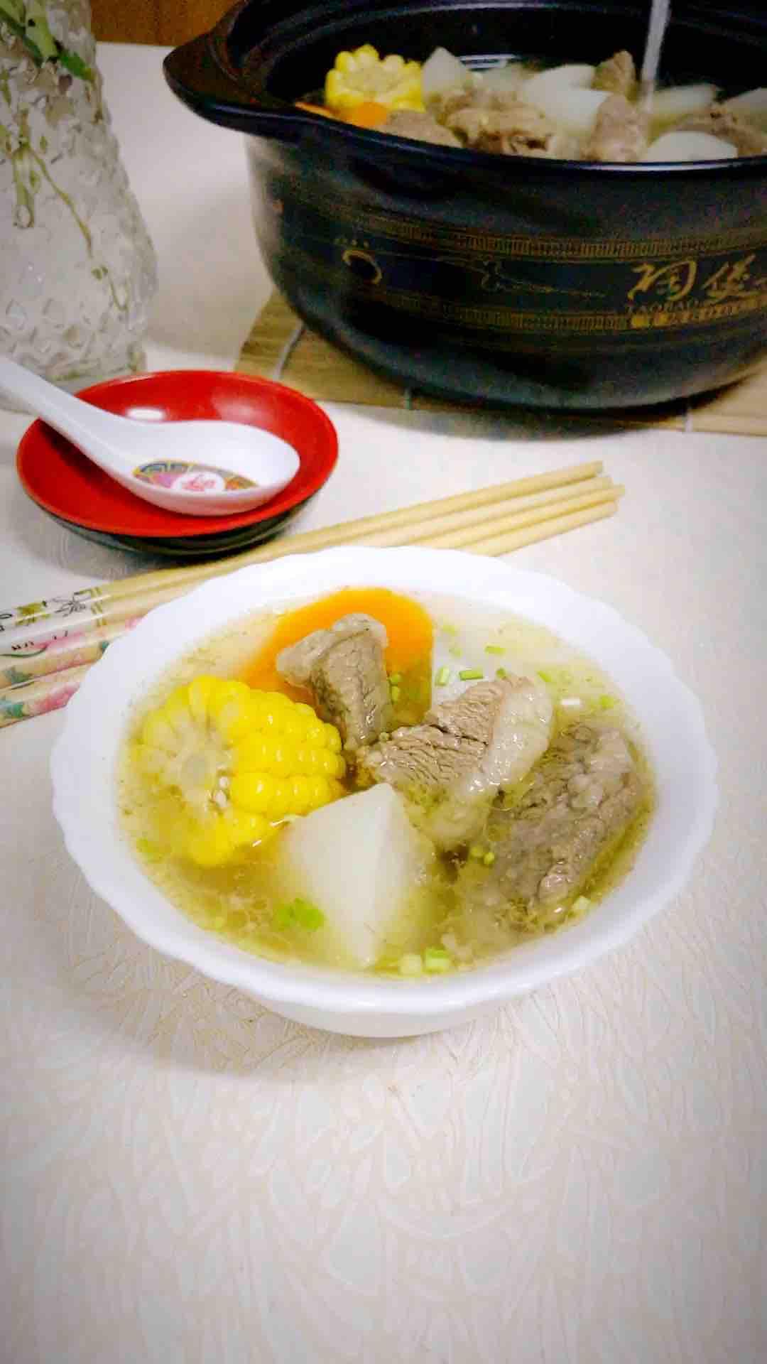 萝卜玉米羊肉汤