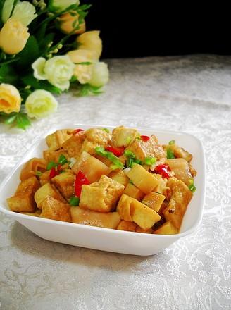 杏鲍菇烧豆腐的做法