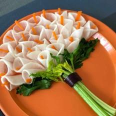 白萝卜花束的做法
