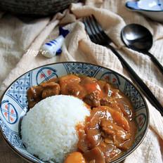 滋味浓郁的咖喱牛肉饭
