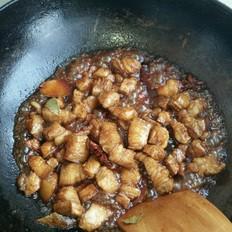 红烧肉炖干豆角